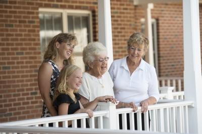 Multiple Generations Enjoying Family Time at Senior Apartments in Lititz, PA
