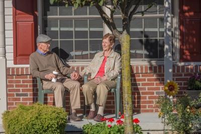 Elderly Couple at their Senior Cottage in Lititz, PA