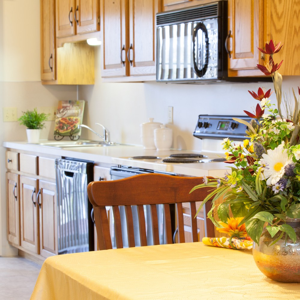 Kitchen and Dining Room in a Senior Living Cottage in Lancaster, PA
